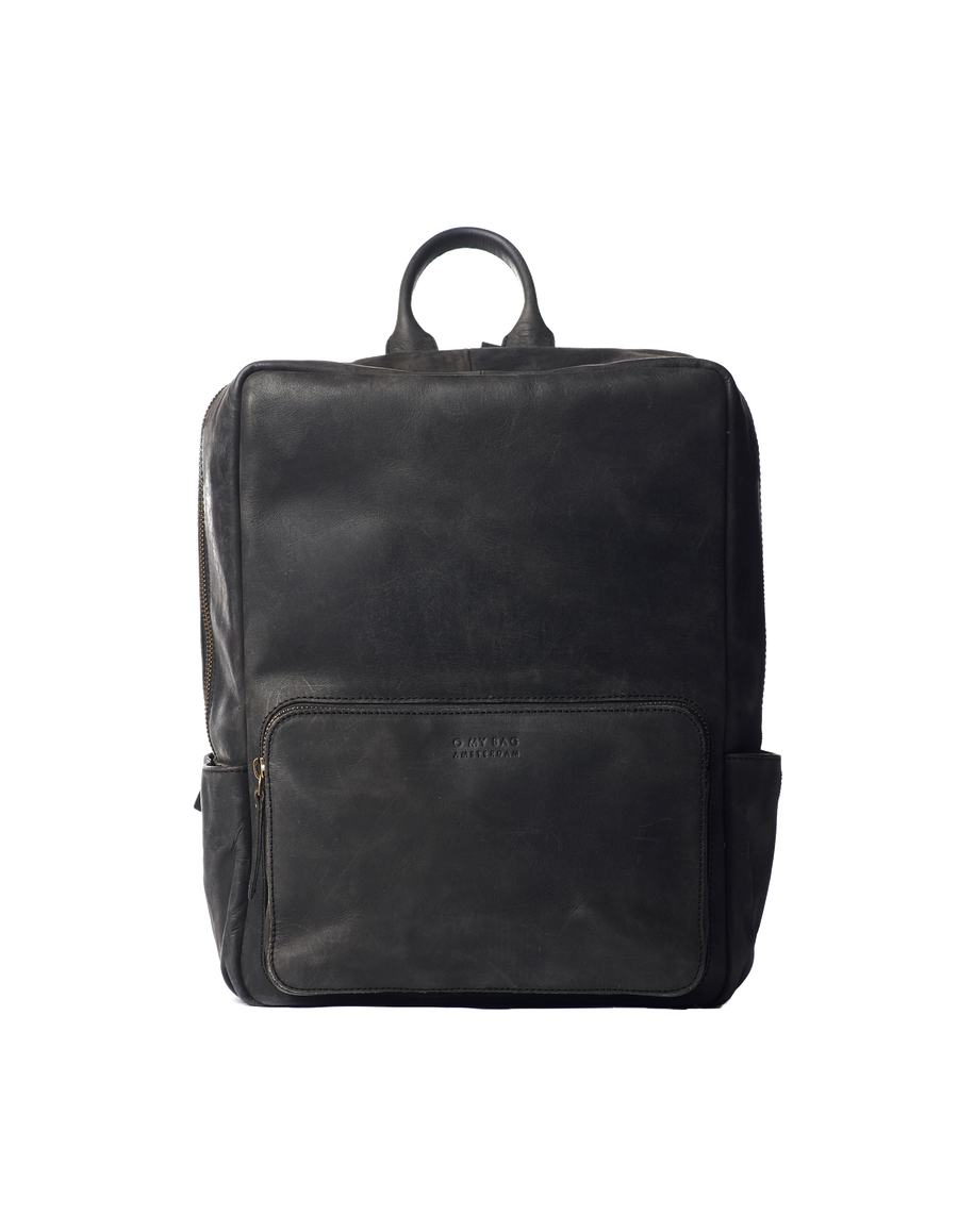 Recommended: John Backpack Midi - Black Hunter Leather