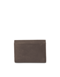 Dark Brown Leather wallet. Envelope shape. Back product image.