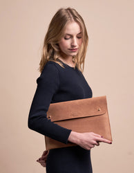 Camel Leather laptop sleeve 13""