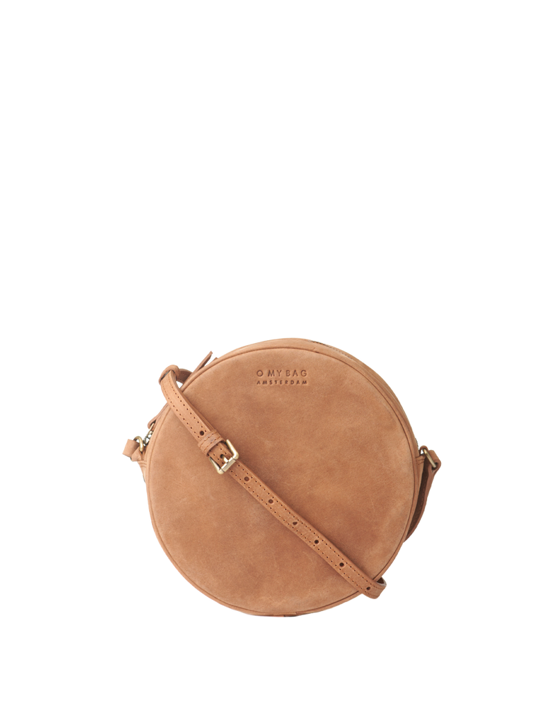 Denim bag with leather camel changeant