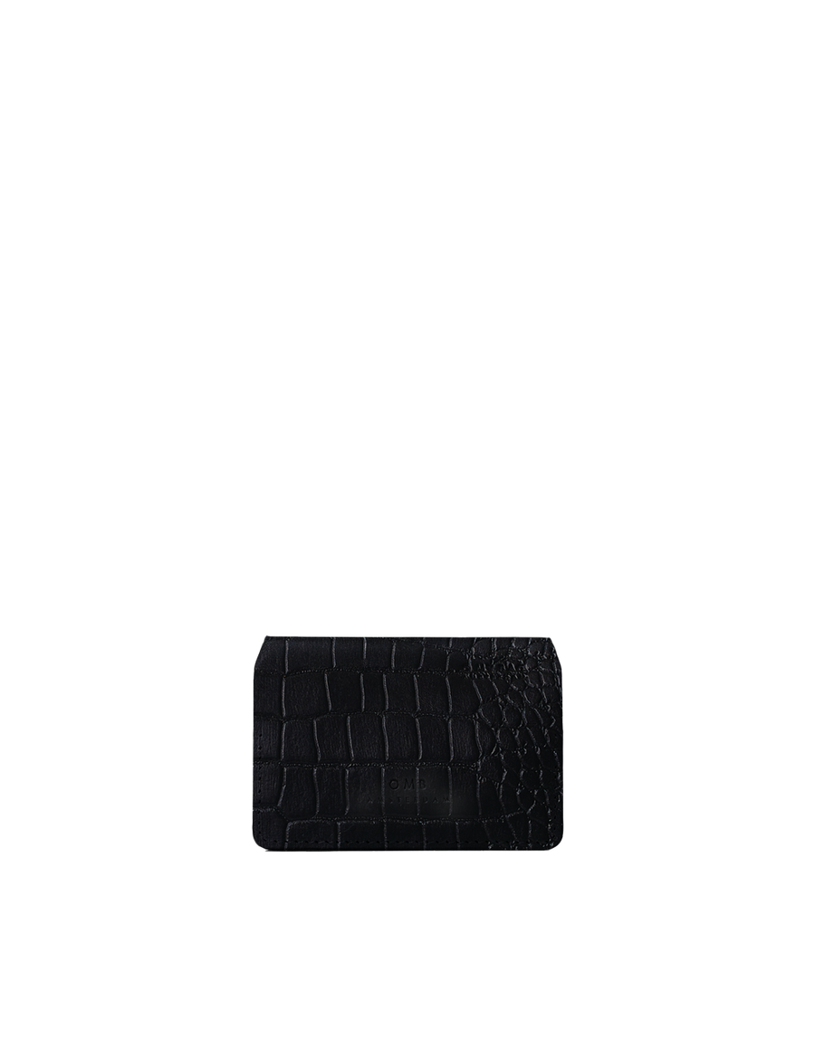 Recommended: Cassie's Cardcase - Black Croco Classic Leather
