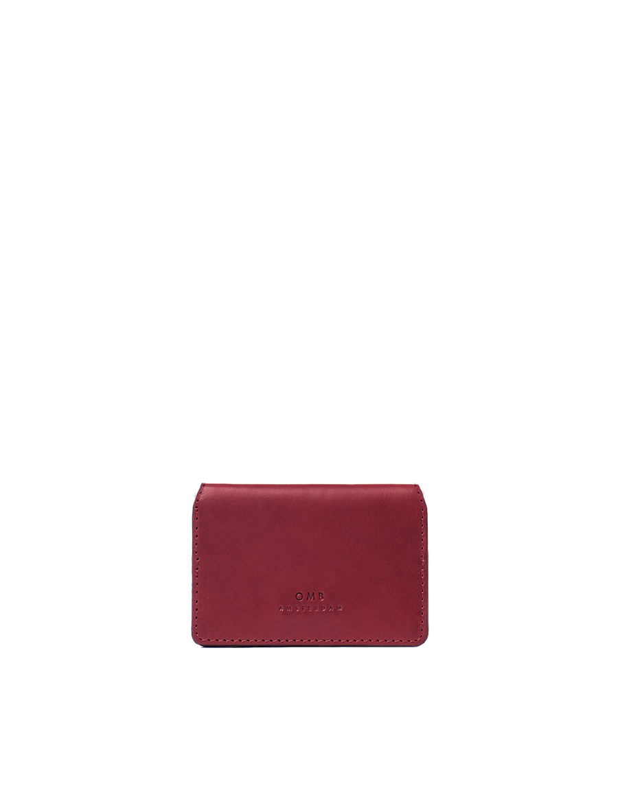 Recommended: Cassie's Cardcase - Ruby Classic Leather