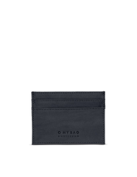 Marks Cardcase Black Classic Leather. Square leather wallet, card case for bank cards.  Front product image.