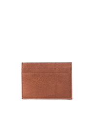 Marks Cardcase Wild Oak Soft Grain Leather. Square leather wallet, card case for bank cards. Back product image.