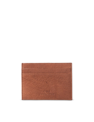 Marks Cardcase Wild Oak Soft Grain Leather. Square leather wallet, card case for bank cards.  Front product image.