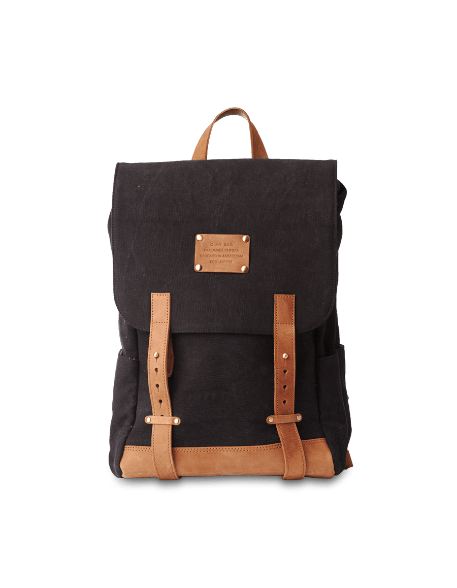 Recommended: Mau's Backpack - Black & Camel Canvas Hunter Leather