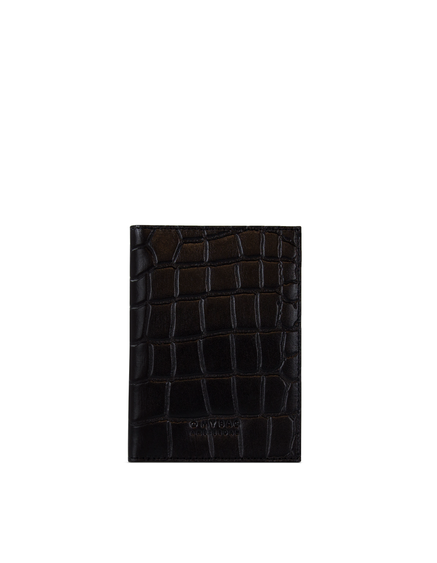 Recommended: Passport Holder - Black Classic Croco Leather