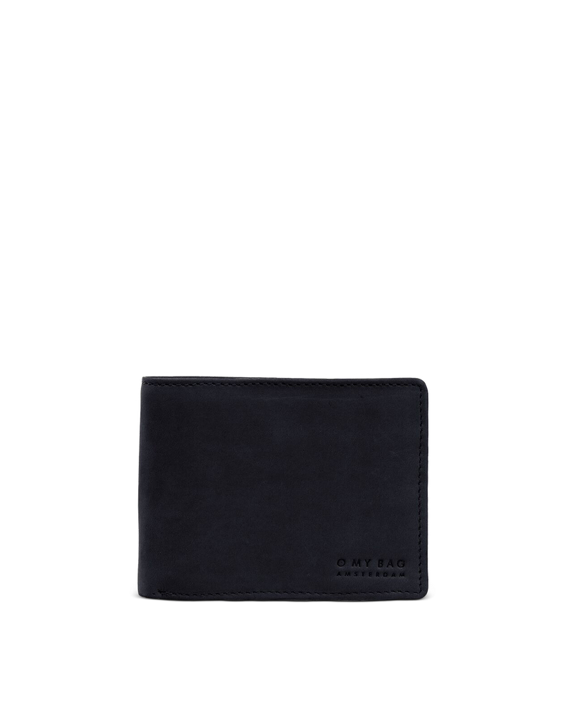 Front of Tobi's Wallet Black Hunter Leather