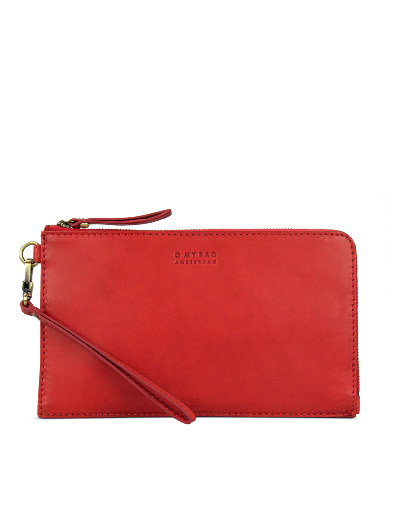 Red Leather travel pouch