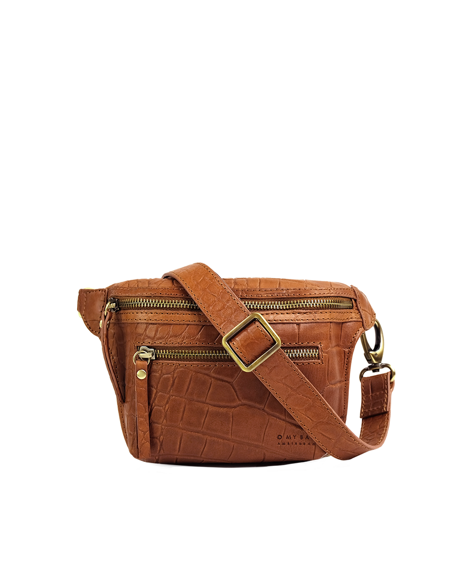 Recommended: Beck's Bum Bag - Wild Oak Soft Grain Croco Leather
