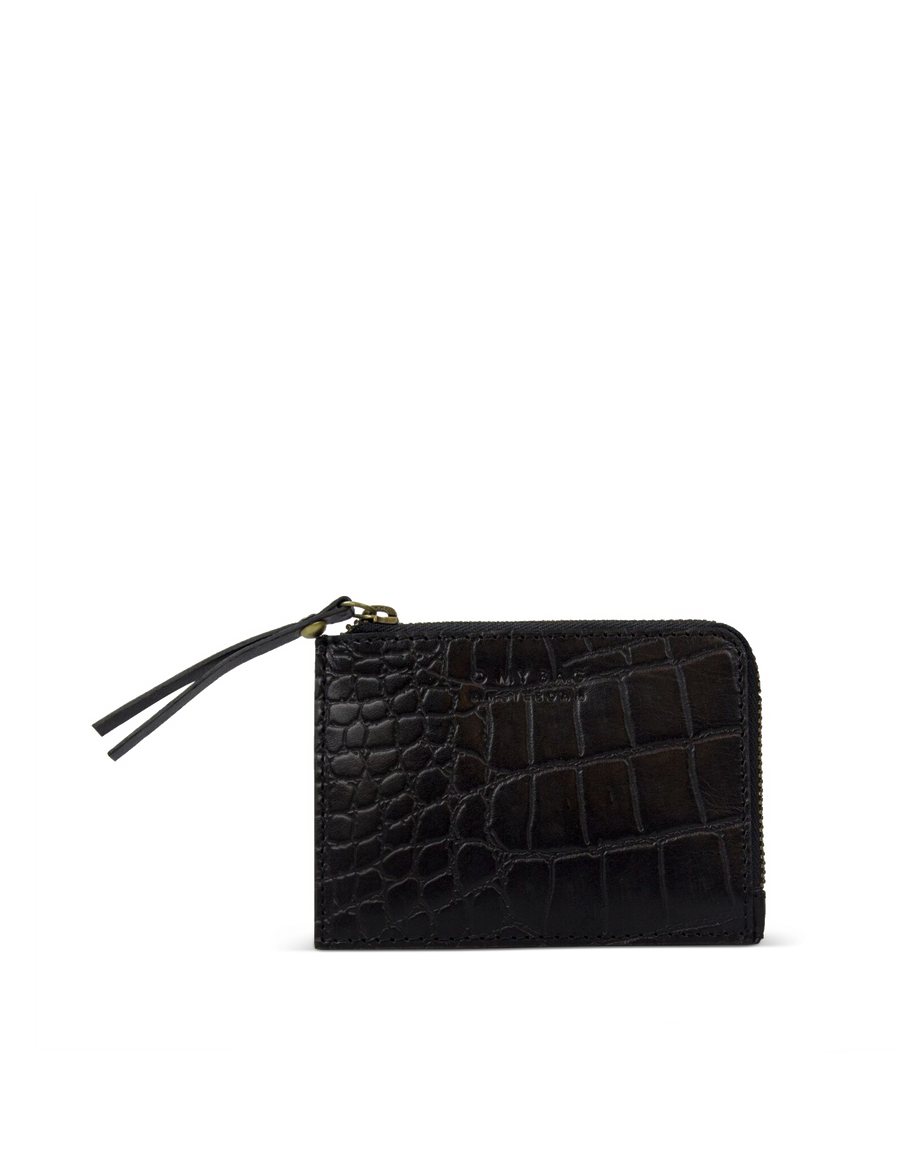 Recommended: Coin Purse - Black Classic Croco Leather