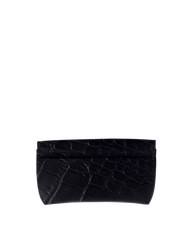 Spectacle Case Black Classic Croco Leather