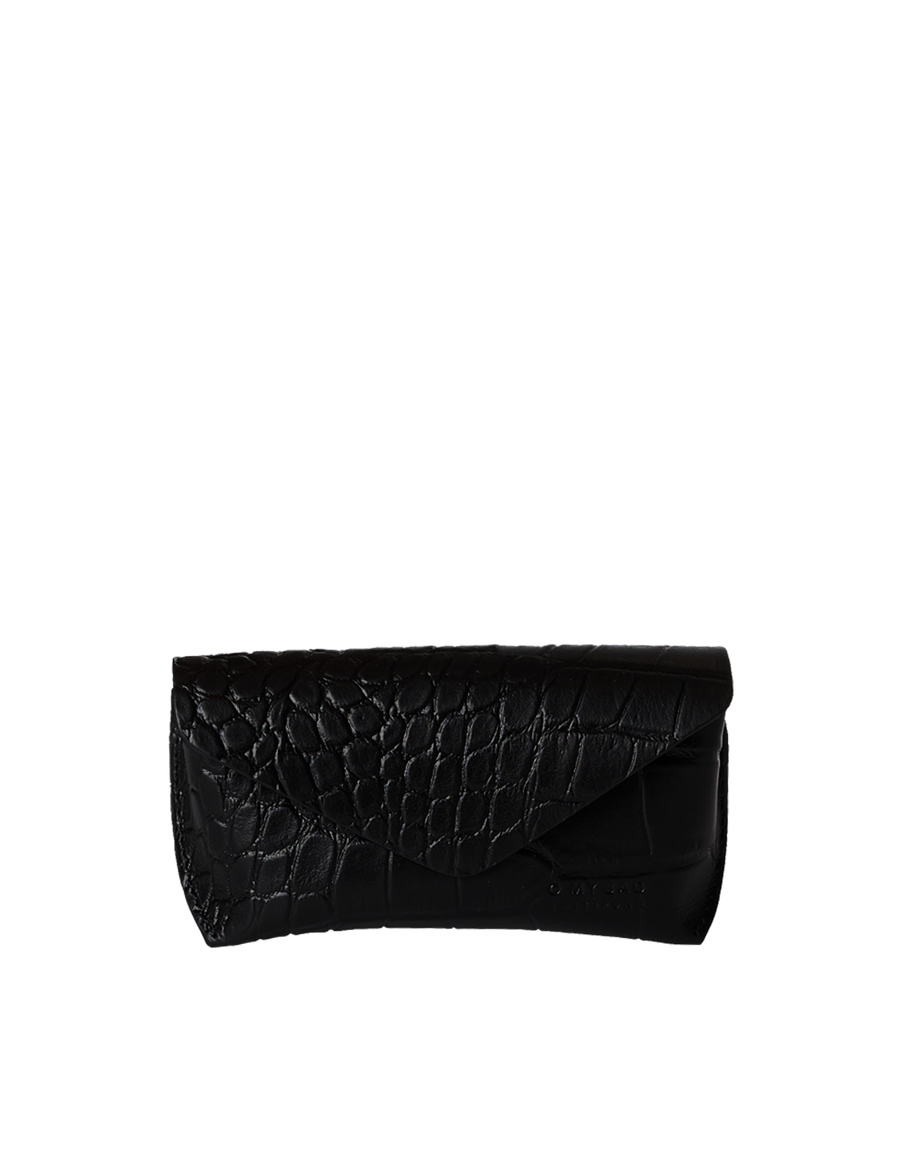 Recommended: Spectacle Case - Black Classic Croco Leather