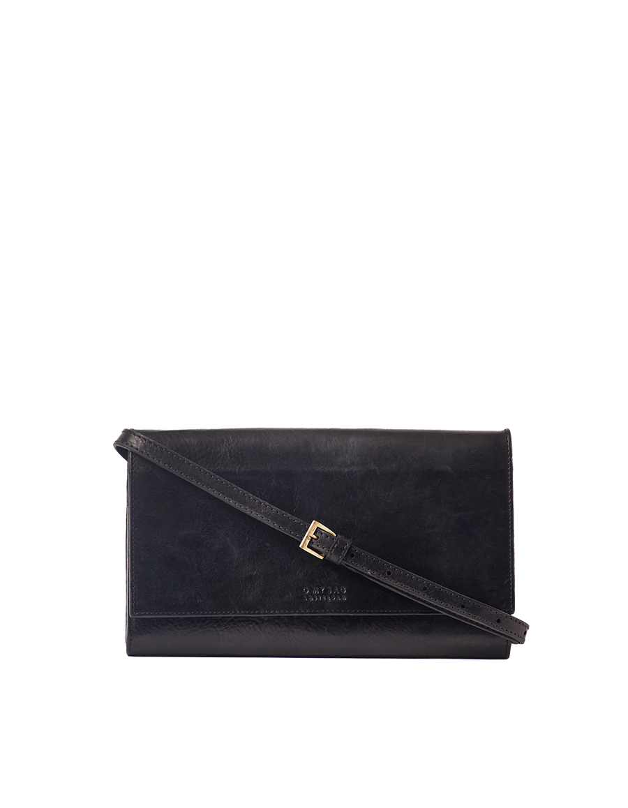 Recommended: Kirsty Clutch - Black Stromboli Leather