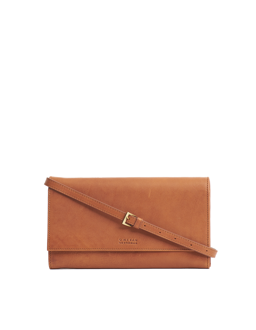 Recommended: Kirsty Clutch - Cognac Stromboli Leather