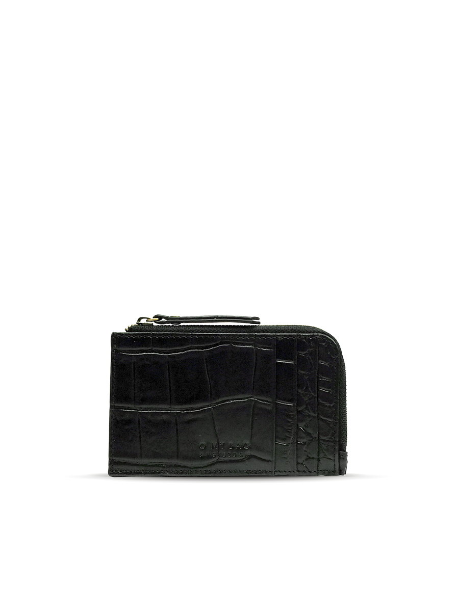 Recommended: Lola Coin Purse - Black Croco Classic Leather