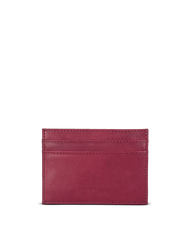 Marks Cardcase Ruby Classic Leather. Square leather wallet, card case for bank cards.  Back product image.