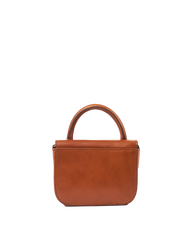 Nano Bag Cognac Classic Leather. Small clutch handbag, party bag. Back product image.
