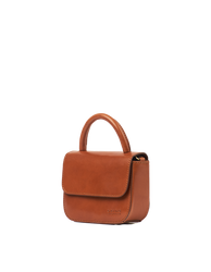 Nano Bag Cognac Classic Leather. Small clutch handbag, party bag. Side product image.