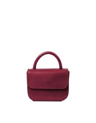 Nano Bag Ruby Classic Leather. Small clutch handbag, party bag. Front product image.