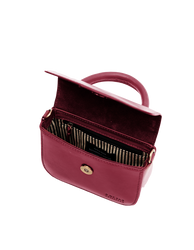 Nano Bag Ruby Classic Leather. Small clutch handbag, party bag. Inside product image.