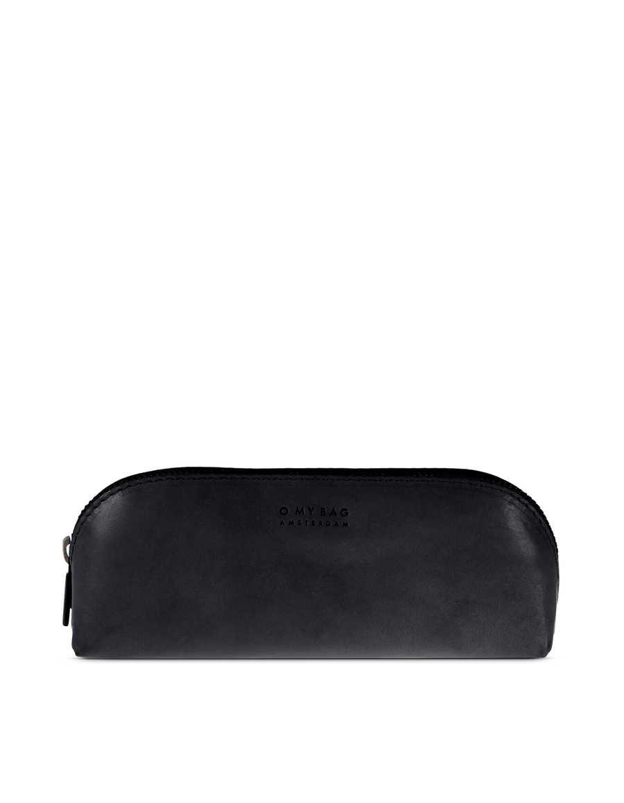 Recommended: Pencil Case Large - Black Classic Leather