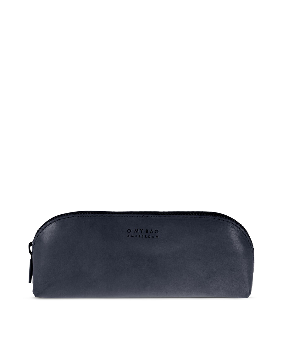 Recommended: Pencil Case Large - Navy Classic Leather