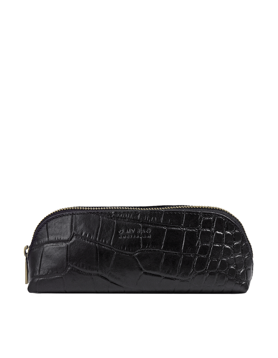 Recommended: Pencil Case Large - Black Classic Croco Leather