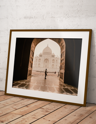 Taj Mahal picture on the wall