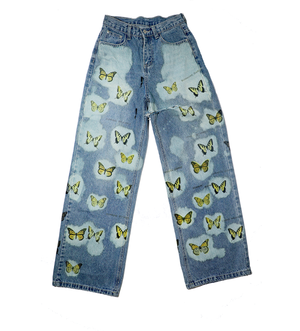 High Waisted Butterfly Jeans