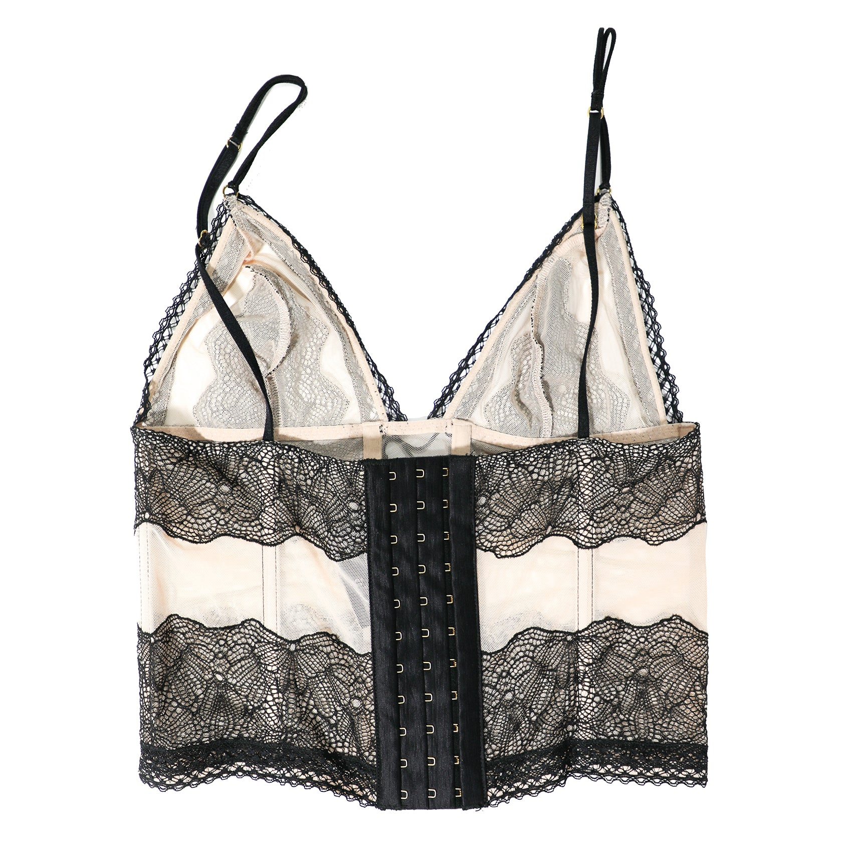 Patterned Lace Bustier