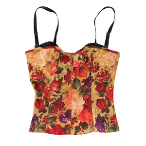Red Floral Bustier