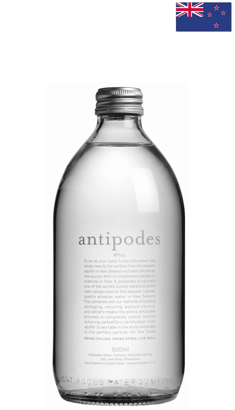 antipodes (500ml) Natural Mineral Water - Case/24 Bottles