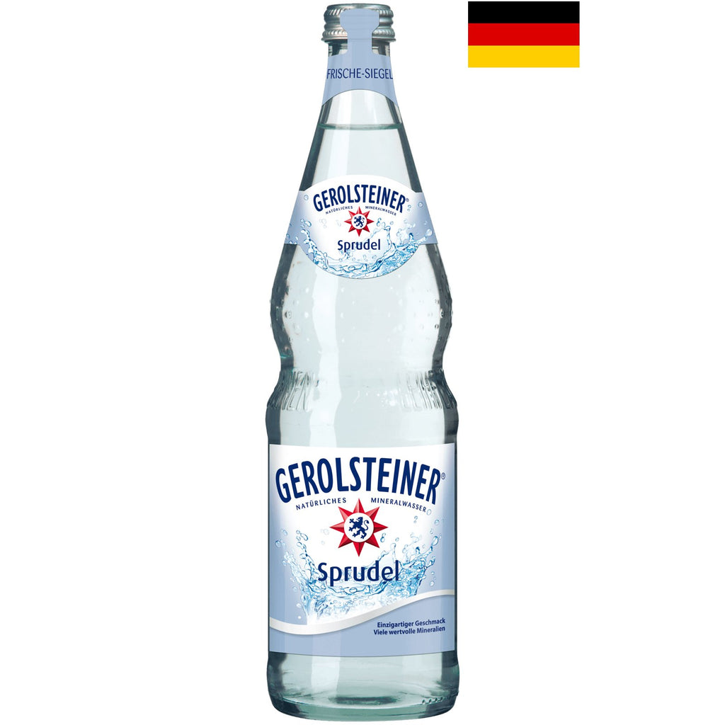 Gerolsteiner (German Version 700ml) Natural Sparkling Mineral Water - Case/12 Bottles