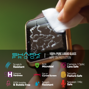 Shark Proof™ Liquid Glass Wipe On Screen Protector for ANY Smart Watch Fitness Tracker (4601937854527)