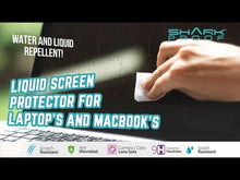 Load and play video in Gallery viewer, Shark Proof™ Liquid Glass Wipe On Screen Protector for Laptops MacBooks & Touchscreens
