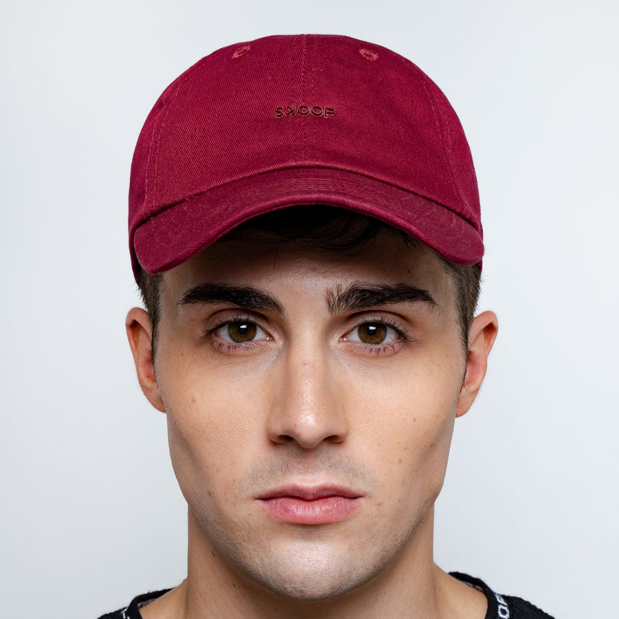 Original Burgundy Cotton Twill Cap - Skoop Kommunity