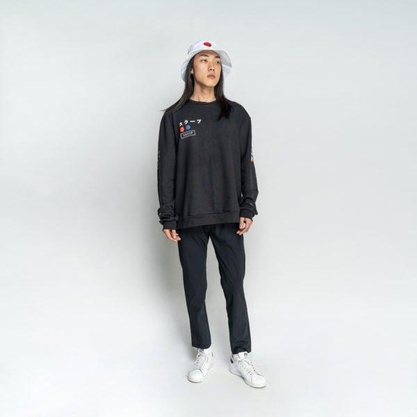 SS7 Origin Black Sweatshirt - Skoop Kommunity