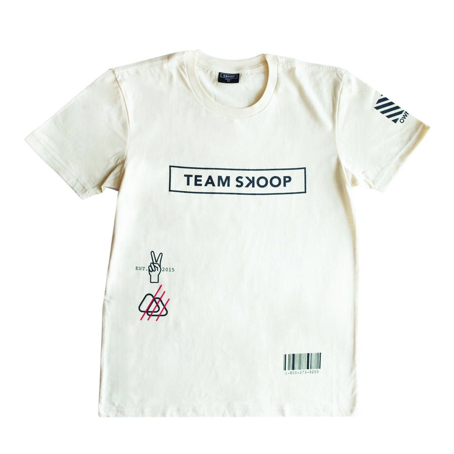 Team Skoop Cream Shirt - Skoop Kommunity