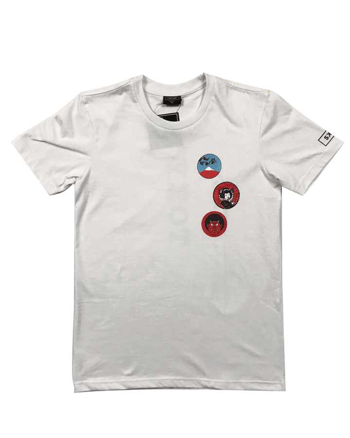 Stamps White Tee - Skoop Kommunity