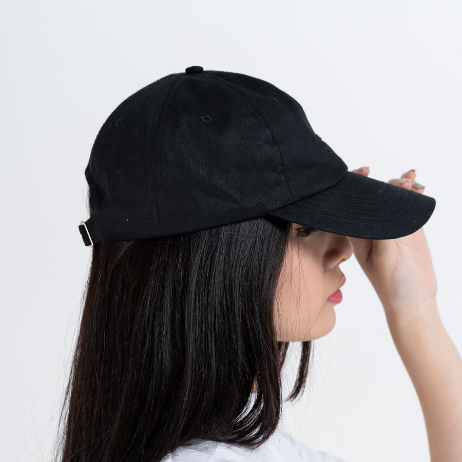 Original Black Cotton Twill Cap - Skoop Kommunity