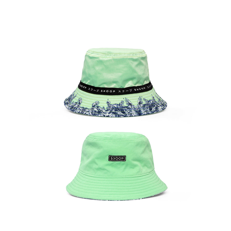 Mint Wave Reversible Bucket Hat - Skoop Kommunity