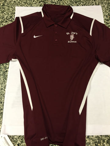"Nike ""Game Day"" Alumnus Dri-Fit Polo (Maroon) - AVAILABLE IN SMALL ONLY"