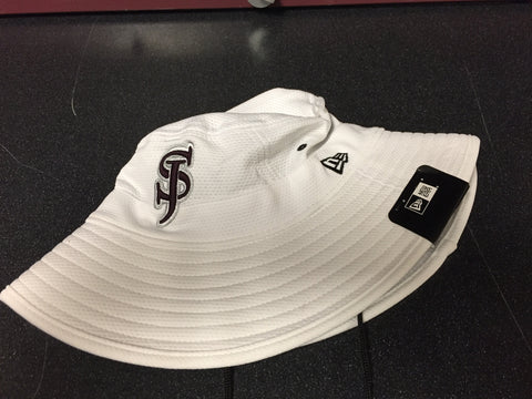 """SJ"" Bucket Hat - White - One Size Fits Most"
