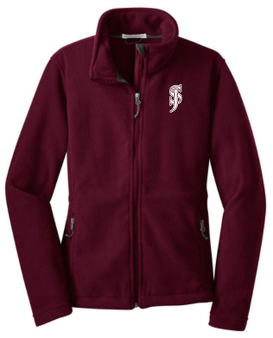Port Authority Ladies' Fleece Jacket - Maroon