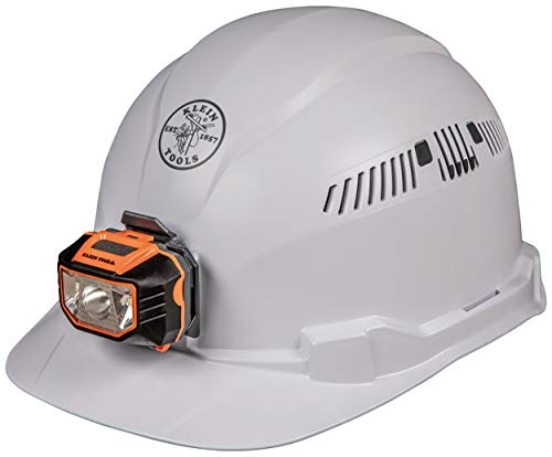Klein Tools - Cap Style Hard Hat with Headlamp (White)