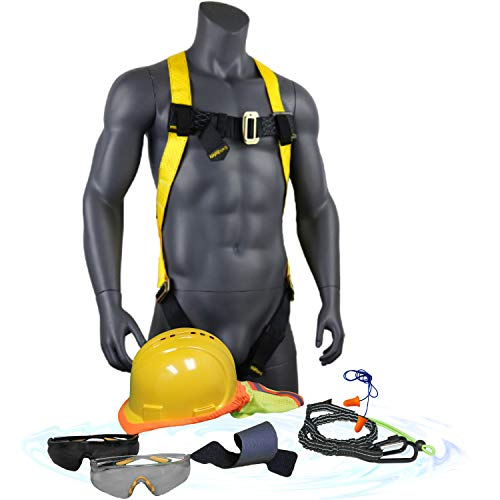 KwikSafety - TURTLE SHELL FALL PROTECTION SAFETY KIT | STANDARD HARD HAT, SAFETY GLASSES, SAFETY HARNESS & MORE