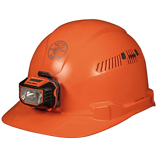 Klein Tools - Cap Style Hard Hat with Headlamp (Orange)