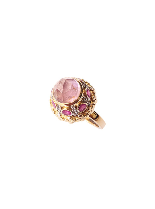 14K Gold Pink Tourmaline Ring