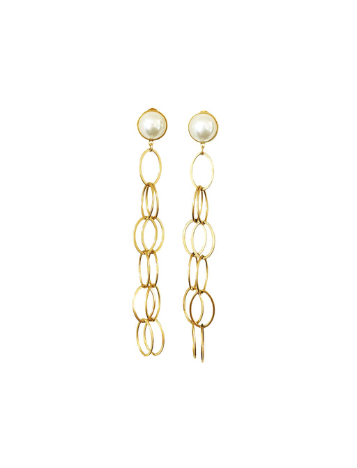 ELLIPTICAL PEARL EARRINGS